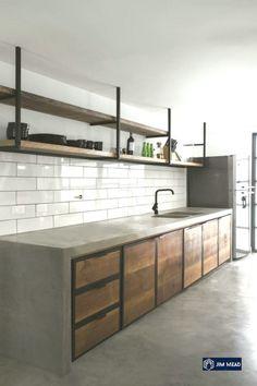 25 Wonderful Industrial Kitchen Ideas That. If you are looking for Industrial Kitchen Ideas That, You come to the right place. Below are the Industrial Kitchen Ideas That. This post about Industrial . Rustic Industrial Decor, Industrial Interior Design, Industrial Interiors, Interior Design Kitchen, Industrial Living, Industrial Style, Rustic Luxe, Industrial Shelves, Interior Plants