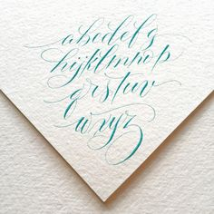 Still trying to make friends with my modern script. Sometimes it's hard to switch gears! . #calligraphy #calligraphymasters #modernscript #winsorandnewton #gouache #cobaltturquoiselight #coldpressed #iampeth #letterworks