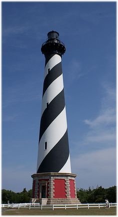 Cape Hatteras Lighthouse - Outer Banks North Carolina I saw the lighthouse before it was moved from the shoreline because of erosion. Would be a different view for me now. Outer Banks North Carolina, Outer Banks Nc, Outer Banks Vacation, Vacation Places, Vacation Spots, Places To Travel, Places To Go, Lighthouse Pictures, Lighthouse Art