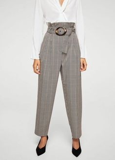 How to Wear 6 of Falls Biggest Trends at Work via Brit Co Mango Trousers e37fedf68