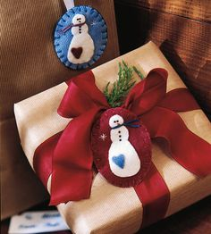 Make a Felted Snowman Pin for Christmas Use embroidery floss and felted well to make a cute snowman pin to wear during the Christmas season.