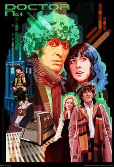 """Doctor Who No. 4: Tom Baker"" (2012) by Garth Glazier."