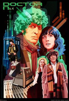 tom baker profile | Doctor Who No. 4,Tom Baker by Garth Glazier