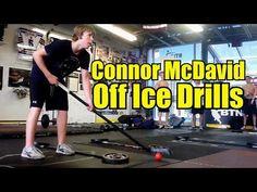 Connor McDavid Skating and Stickhandling Drills