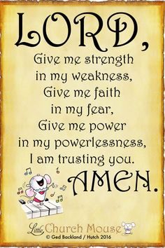 God has always been there to give me strength when im weak, he has always gave me faith when I fear, and I am trusting him.