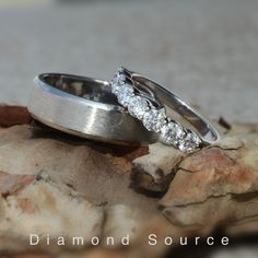 Platinum wedding band with a brushed finish for him. Platinum diamond half eternity band for her. Matching wedding bands. Matching Wedding Bands, Wedding Sets, Wedding Rings, Diamond Jewelry, Gold Jewelry, Platinum Wedding, Wholesale Jewelry, Jewelry Gifts, Rings For Men