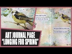 How to: Art Journal Page - Spring - YouTube