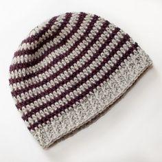Basic Striped Hat Free Crochet Pattern | #crochet #pattern
