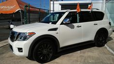 Tu Nueva Nissan Armada Platinum 2017 con 3 filas de asientos con la única y exclusiva garantía de Adriel Nissan Auto de 10 años o 200,000 millas. Pregunte por los beneficios de doble, engache, viajes y alquier. Interes 1.99% APR. Comunícate al 787-604-3583. En el mejor Dealer de Puerto Rico, con el mejor servicio, en menor tiempo posible. Garantizado! Llama ya!