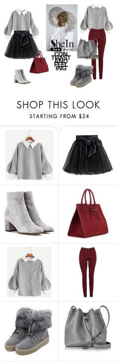"""""""SheIn"""" by elza-345 ❤ liked on Polyvore featuring Little Wardrobe London, Gianvito Rossi, Mansur Gavriel, AG Adriano Goldschmied, WithChic and Lancaster"""