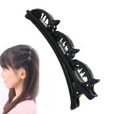 ファッションスタイリングヘアピン髪ブレイダー髪留めヘアスタイリングアクセサリーアヒルクリップヘアスタイリングツールy3