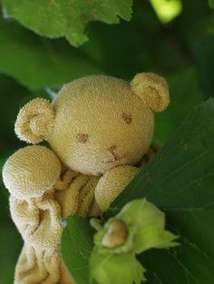 Teddy Bear for Baby  waldorf doll  wool stuffed by ElodeaToys