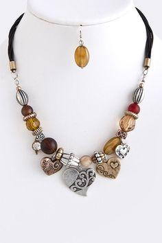 DivaByDzine - Charming Hearts Necklace Set, $15.00 (http://www.divabydzine.com/charming-hearts-necklace-set/)