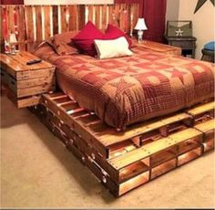 25 BEST U2013 DIY Pallet Bed Ideas | Bedroom Concept! Bed Ideas, Diy Pallet