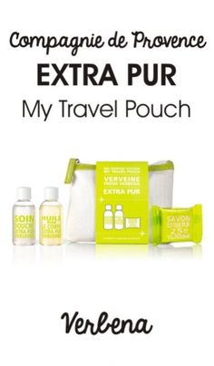 Feel fresh and revived with the Extra Pur 'My Travel Pouch' in ' Fresh Verbena ' from Compagnie De Provence. Housed within a white cotton pouch, the gift set combines a range of essential cleansing products, all enriched with a fresh lemon verbena fragrance created in the perfume capital of the world, Grasse. - K.N.