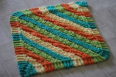 Pattern for Knit dish cloth