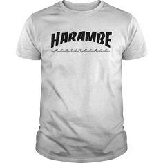 Harambe thrasher shirt (full black and white version) - Myfrogtee