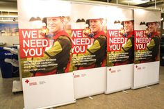 "New pop up banners for the ""Ready when the time comes"" program organized by the Canadian Red Cross ( Canadian Red Cross, Pop Up Banner, Retractable Banner, Need You, Banners, Print Design, How To Become, Organization, Innovation"