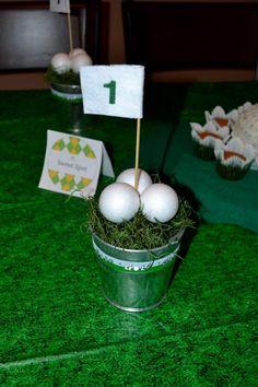 #Golf #centerpieces