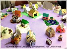 Paper House Making at SIUE's Fall Art Therapy Conference | Creativity in Motion