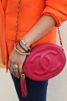 Chanel Vintage Double C Shoulder Bag media gallery on Coolspotters. See photos, videos, and links of Chanel Vintage Double C Shoulder Bag. Tumblr Fashion, Fashion Mode, Look Fashion, Fashion Bags, Fashion Accessories, Fashion Handbags, Cheap Fashion, Street Fashion, Luxury Fashion