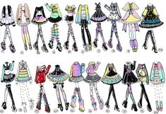 CLOSED-20 pack of Outfits by Guppie-Adopts