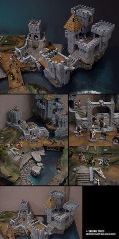 Abandoned Castle #Miniaturegaming #miniaturegamingCastle #Foammodelcastlelandscapes