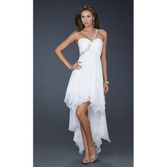 2012 Hi-Lo White Homecoming Dresses/ Casual Cocktail Dresses for Homecoming