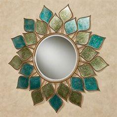 Petal Burst Mirrored Wall Art Multi Cool