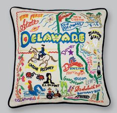 State Pillows: Delaware State Pillow