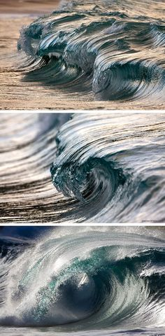 The sculptural beauty of ocean waves ~ photographer Pierre Carreau  #photography #high_speed_photography #myt