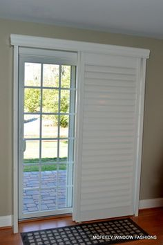 Delightful Custom Plantation Shutters For Sliding Glass Door By McFeely Window Fashions