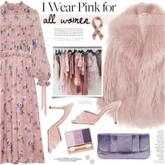 Who Do You Wear Pink For? ★ by mylkbar on Polyvore featuring polyvore, fashion, style, MSGM, Miu Miu, Manolo Blahnik, Bling Jewelry, Monica Vinader, Kerr® and By Terry