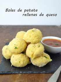 Cuuking! Recetas de cocina: Bolas de patata rellenas de queso