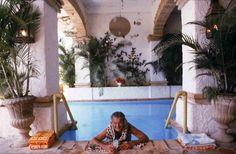 Paul Bancroft (© Slim Aarons) Paul Bancroft of San Francisco in a swimming pool at Puerto Vallarta, Mexico, April 1979.