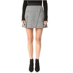 alice + olivia Cindie Pleated Miniskirt (437 AUD) ❤ liked on Polyvore featuring skirts, mini skirts, panel skirt, mini skirt, pleated miniskirt, retro mini skirt and short skirts