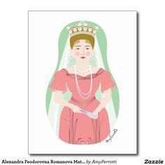 Alexandra Feodorovna Romanova Matryoshka Postcard