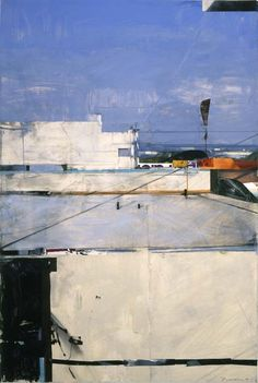 """Santa Monica Rooftops Ben Aronson [An example of a really """"realistic"""" painting that still has that painterly love.]"""