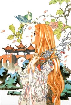 Sairin, given name Youran The Twelve Kingdoms, Manga List, Oriental, Online Anime, Fantasy Illustration, Illustrations, Animated Cartoons, Best Artist, Amazing Art