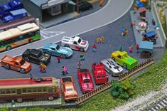 Another hobby of mine N scale train diorama Pict N Scale Model Trains, Model Train Layouts, Scale Models, Bus System, Standard Gauge, Hobby Trains, New York City Travel, 4 Photos, Diorama