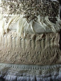 Lace knit and embroidery