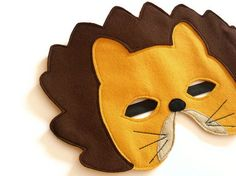 Lion Felt Children Mask Kids Carnival Mask, Waldorf Dress up Costume Accessory for Boys, Children Pretend Play Toy. €12,00, via Etsy.