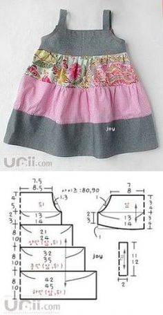 sew clothes for children.♥ Deniz ♥ sew clothes for children. Baby Girl Dress Patterns, Dress Sewing Patterns, Doll Clothes Patterns, Little Girl Dresses, Clothing Patterns, Baby Patterns, Sewing Kids Clothes, Diy Clothes, Children Clothes