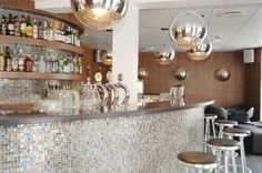 Come by the Cube bar at hotel Scandic Webers in central Copenhagen. It's sparkly!