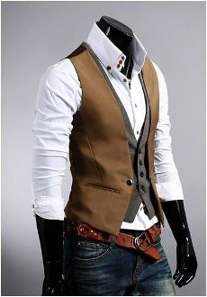 Mens Layered Look Vest