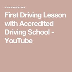 First Driving Lesson with Accredited Driving School Driving School, Acting, Youtube, Driving Training School, Youtubers, Youtube Movies
