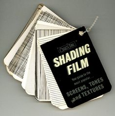 Cello-Tak Shading Film- for screens, tones, and textures!