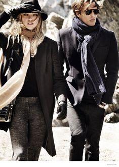massimo dutti 2014 fall winter ad campaign 2 Sasha Pivovarova Leads Massimo Duttis Fall 2014 Campaign