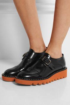 Stella McCartney | Odette faux leather loafers | NET-A-PORTER.COM