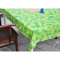 Floral Green printed table cover #tablecovers #tablecoversonline